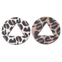 Holz Ohranhänger Zubehör, Kunstdruck, keine, 50x4mm, Bohrung:ca. 2mm, ca. 1000PCs/Tasche, verkauft von Tasche