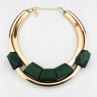 Holz Halskette, mit Messing, plattiert, für Frau, keine, verkauft per ca. 18 ZollInch Strang