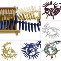 Natürliche klare Quarz Perlen, Klarer Quarz, plattiert, Farbverlauf & transluzent, keine, 6*8*34mm, ca. 37PCs/Strang, verkauft per ca. 11.8 ZollInch Strang