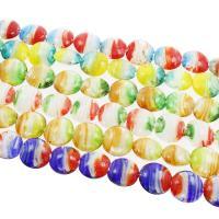 Innerer Twist Lampwork Perlen, flache Runde, innen Twist, 20x10mm, Bohrung:ca. 1mm, ca. 100PCs/Tasche, verkauft von Tasche