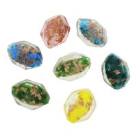 Goldsand Lampwork Perlen, 24x33x19mm, Bohrung:ca. 2mm, ca. 100PCs/Tasche, verkauft von Tasche
