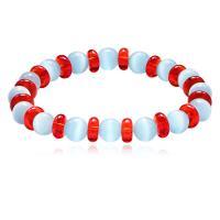 Cats Eye Armbänder, Katzenauge, mit Kunststoff, für Frau, blau, 8mm, verkauft per ca. 6.8 ZollInch Strang