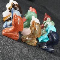 Edelstein Dolphin, geschnitzt, gemischte Farben, 33x48mm, 12PCs/Box, verkauft von Box