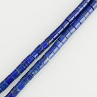 Lapislazuli Perlen, Zylinder, verschiedene Größen vorhanden, blau, Bohrung:ca. 1.5mm, verkauft per ca. 15.5 ZollInch Strang