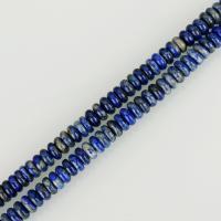 Lapislazuli Perlen, flache Runde, verschiedene Größen vorhanden, blau, Bohrung:ca. 1mm, verkauft per ca. 16 ZollInch Strang