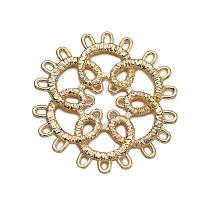 Messing Haar-Stock -Entdeckungen, Blume, vergoldet, für Frau & hohl, frei von Nickel, Blei & Kadmium, 22*22mm, 10PCs/Menge, verkauft von Menge
