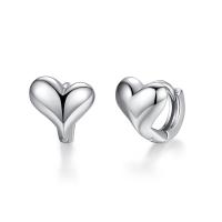 Messing Leverback Ohrring, Herz, plattiert, für Frau, keine, frei von Nickel, Blei & Kadmium, 9*9MM, verkauft von Paar