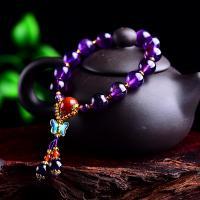 Amethyst Armband, unisex, violett, 10mm, verkauft per ca. 6.3 ZollInch Strang