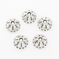 Zinklegierung Perlenkappe, Blume, antik silberfarben plattiert, 8*5mm, Bohrung:ca. 2mm, 2Taschen/Menge, ca. 1000PCs/Tasche, verkauft von Menge