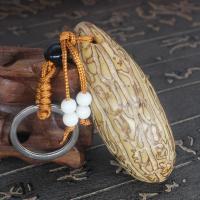 Bodhi Schlüsselanhänger, natürliche & verschiedene Größen vorhanden, frei von Nickel, Blei & Kadmium, 130mm,90mm, 10PCs/Menge, verkauft von Menge