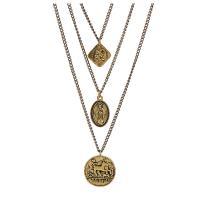 Zinklegierung Halskette, antike Goldfarbe plattiert, Twist oval & für den Menschen, frei von Nickel, Blei & Kadmium, 880mm, verkauft von Strang