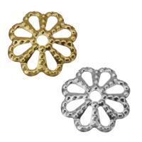 Edelstahl Perle Kappe, Blume, Hohe Qualität überzogen und verblassen nie, keine, frei von Nickel, Blei & Kadmium, 8x1.50mm, Bohrung:ca. 1mm, ca. 1500PCs/Menge, verkauft von Menge