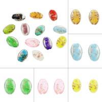 Goldsand Lampwork Perlen, keine, 17x25x9mm, Bohrung:ca. 1mm, ca. 100PCs/Tasche, verkauft von Tasche