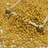 Jadeit Perlen, rund, natürlich, poliert & DIY, gelb, 6mm, 600PCs/Menge, verkauft von Menge