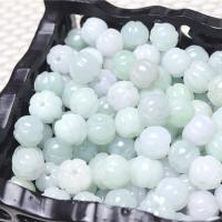 Jadeit Perlen, Kürbis, natürlich, poliert & DIY, 9.5-10mm, Bohrung:ca. 1.5-2mm, 50/Menge, verkauft von Menge