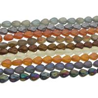 Kristall-Perlen, Kristall, bunte Farbe plattiert, mehrere Farben vorhanden, 9x11x7mm, Länge:ca. 23.62 ZollInch, 55PCs/Menge, verkauft von Menge