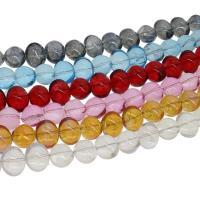 Kristall-Perlen, Kristall, bunte Farbe plattiert, verschiedene Größen vorhanden, mehrere Farben vorhanden, Bohrung:ca. 1mm, 50PCs/Strang, verkauft per ca. 23.62 ZollInch Strang