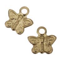 gold-gefüllt Anhänger, Schmetterling, frei von Nickel, Blei & Kadmium, 7x5mm, Bohrung:ca. 1mm, verkauft von PC