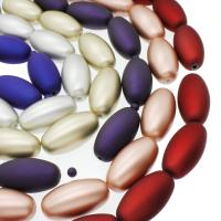 ABS-Kunststoff-Perlen, ABS Kunststoff, Olive, keine, 27x39mm, Bohrung:ca. 3mm, ca. 100PCs/Tasche, verkauft von Tasche