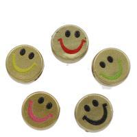 Acryl Lächelndes Gesichte, keine, 12x6mm, Bohrung:ca. 4mm, 1000PCs/Tasche, verkauft von Tasche