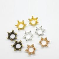 Zinklegierung Perlenkappe, Krone, plattiert, keine, frei von Nickel, Blei & Kadmium, 13x13x5mm, Bohrung:ca. 4mm, 100PCs/Tasche, verkauft von Tasche
