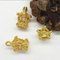 Zinklegierung Krone Anhänger, goldfarben plattiert, hohl, frei von Nickel, Blei & Kadmium, 12x101x17mm, Bohrung:ca. 2mm, 100PCs/Tasche, verkauft von Tasche