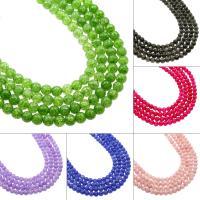 Natürliche Crackle Achat Perlen, Flachen Achat, rund, verschiedene Größen vorhanden, keine, Bohrung:ca. 1mm, verkauft von Strang