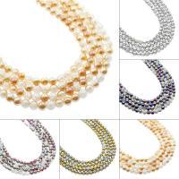 Natürliche Crackle Achat Perlen, Flachen Achat, rund, verschiedene Größen vorhanden & zweifarbig, keine, Bohrung:ca. 1mm, verkauft von Strang