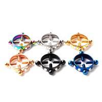 Edelstahl Brustpiercing Ring, 316 Edelstahl, plattiert, unisex & mit Strass, keine, 5MM*1.6, verkauft von Paar