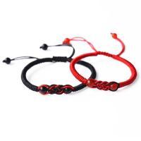 Achat Woven Ball Armband, mit Terylen Schnur, einstellbar & verschiedene Stile für Wahl & für paar, frei von Nickel, Blei & Kadmium, 6mm, verkauft von Strang