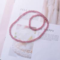 Strawberry Quartz Armband, verschiedene Größen vorhanden & für Frau, Rosa, verkauft von Strang