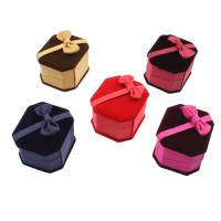 Baumwollsamt Ringkasten, mit Karton & Nylon, Quadrat, plattiert, keine, 60x50x40mm, verkauft von PC