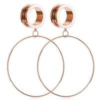 Edelstahl Piercing Durchstich, Kreisring, unisex & verschiedene Größen vorhanden, keine, verkauft von Paar