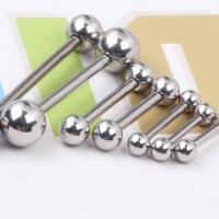 Edelstahl Zungenring, unisex & verschiedene Größen vorhanden, 1.6*16*5/5mm, 1PaarPärchen/Paar, verkauft von Paar