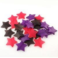 Gemischte Acrylperlen, Acryl, Stern, plattiert, gemischte Farben, 28*5mm, 280/Tasche, verkauft von Tasche
