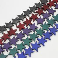 ABS-Kunststoff-Perlen, ABS Kunststoff, Stern, keine, 21x6mm, Bohrung:ca. 1mm, ca. 320PCs/Tasche, verkauft von Tasche