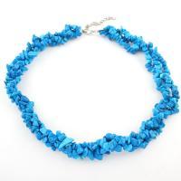 Acryl Halskette, für Frau, blau, Länge:15.7 ZollInch, 10StrangStrang/Tasche, verkauft von Tasche