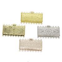 Messing Schnappschließe, plattiert, keine, frei von Nickel, Blei & Kadmium, 46x27x6mm, Bohrung:ca. 2mm, ca. 10PCs/Tasche, verkauft von Tasche