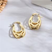 Messing Leverback Ohrring, für Frau & hohl, frei von Nickel, Blei & Kadmium, 16*25mm, verkauft von Paar