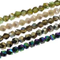 Kristall-Perlen, Kristall, bunte Farbe plattiert, verschiedene Größen vorhanden, mehrere Farben vorhanden, verkauft per ca. 23.22 ZollInch, ca. 21.65 ZollInch Strang