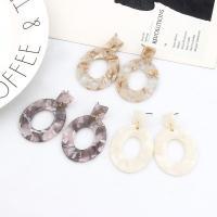 Acryl Tropfen Ohrring, Edelstahl Stecker, Kreisring, für Frau, keine, 33x50mm, verkauft von Paar