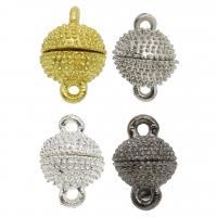 Zinklegierung Magnetverschluss, plattiert, verschiedene Größen vorhanden, keine, frei von Nickel, Blei & Kadmium, Bohrung:ca. 2mm, ca. 50PCs/Tasche, verkauft von Tasche