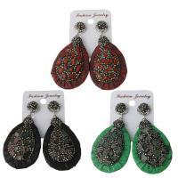 Ton Tropfen Ohrring, mit Gummi Earnut & Edelstein, für Frau, keine, frei von Nickel, Blei & Kadmium, 33x52mm,63.5mm, verkauft von Paar