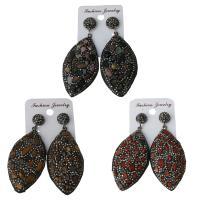 Ton Tropfen Ohrring, mit Gummi Earnut & Edelstein, für Frau, keine, frei von Nickel, Blei & Kadmium, 29x54.5mm,66mm, verkauft von Paar