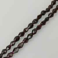 Natürlicher Granat Perlen, braun, frei von Nickel, Blei & Kadmium, 6x10mm, Bohrung:ca. 1.5mm, ca. 45PCs/Strang, verkauft per ca. 16.5 ZollInch Strang