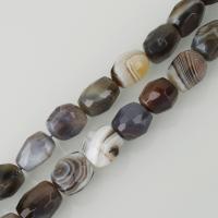 Natürliche Botswana Achat Perlen, gemischte Farben, frei von Nickel, Blei & Kadmium, 12x18mm, Bohrung:ca. 1.5mm, ca. 22PCs/Strang, verkauft per ca. 16 ZollInch Strang