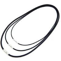 PVC-Kabel Kette Halskette, mit Edelstahl, unterschiedliche Länge der Wahl & verschiedene Größen vorhanden, schwarz, 10StrangStrang/Menge, verkauft von Menge