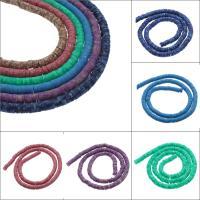 Polymer Ton Perlen , flache Runde, verschiedene Größen vorhanden, keine, Bohrung:ca. 1mm, 10SträngeStrang/Tasche, ca. 250PCs/Strang, verkauft von Tasche