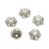 Zinklegierung Perlenkappe, antik silberfarben plattiert, frei von Nickel, Blei & Kadmium, 12x12x7mm, Bohrung:ca. 2mm, ca. 710PCs/Tasche, verkauft von Tasche