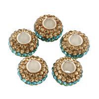 ABS-Kunststoff-Perlen, ABS Kunststoff, mit Ton, 13x8mm, Bohrung:ca. 5mm, ca. 5PCs/Tasche, verkauft von Tasche